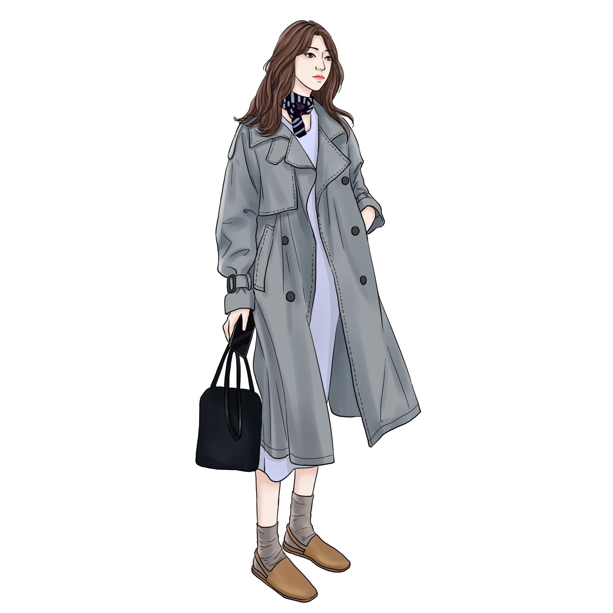 新款灰色风衣女中长款韩版春季外套女  港风女装 ulzzang 秋装女 2018
