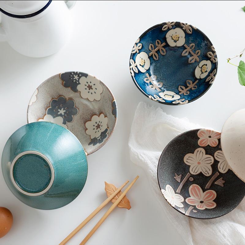 爱陶AITO日式餐具碗碟套装,日本原装进口美浓烧工艺