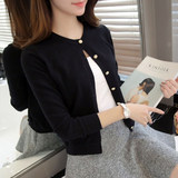 Knitted cardigan female spring can't afford the ball large size red nurse air conditioning shirt short paragraph wild sweater small jacket