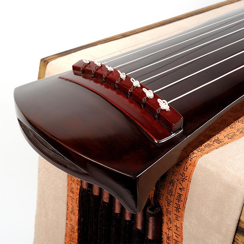 混沌式朱砂红 练习演奏七弦琴 伏羲仲尼式初学者古琴 洛尘古琴