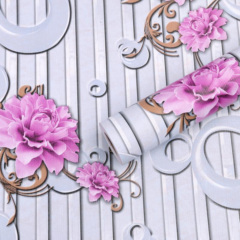 立體背景墻壁紙 3D 墻紙臥室溫馨宿舍防水歐式田園客廳 PVC 米加厚 10
