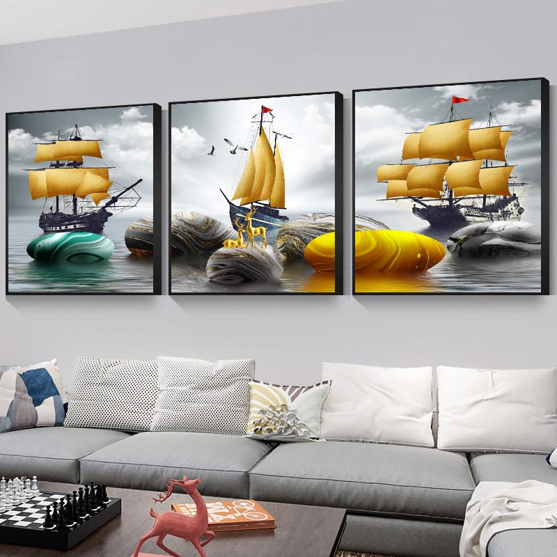 【客厅装饰画】现代简约沙发背景墙