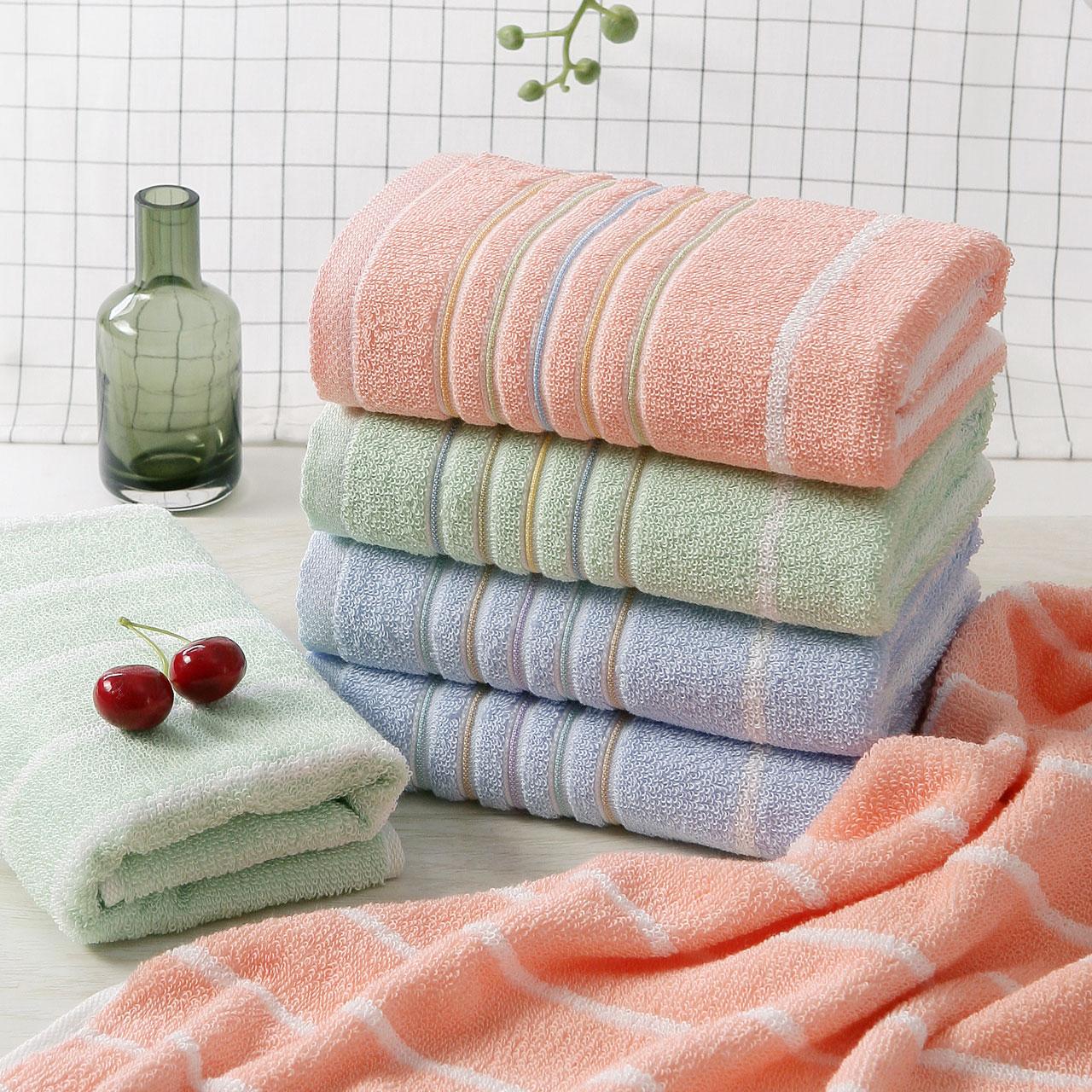 【10条】金号纯棉毛巾 全棉加大提缎成人款 柔软吸水洗脸家用面巾