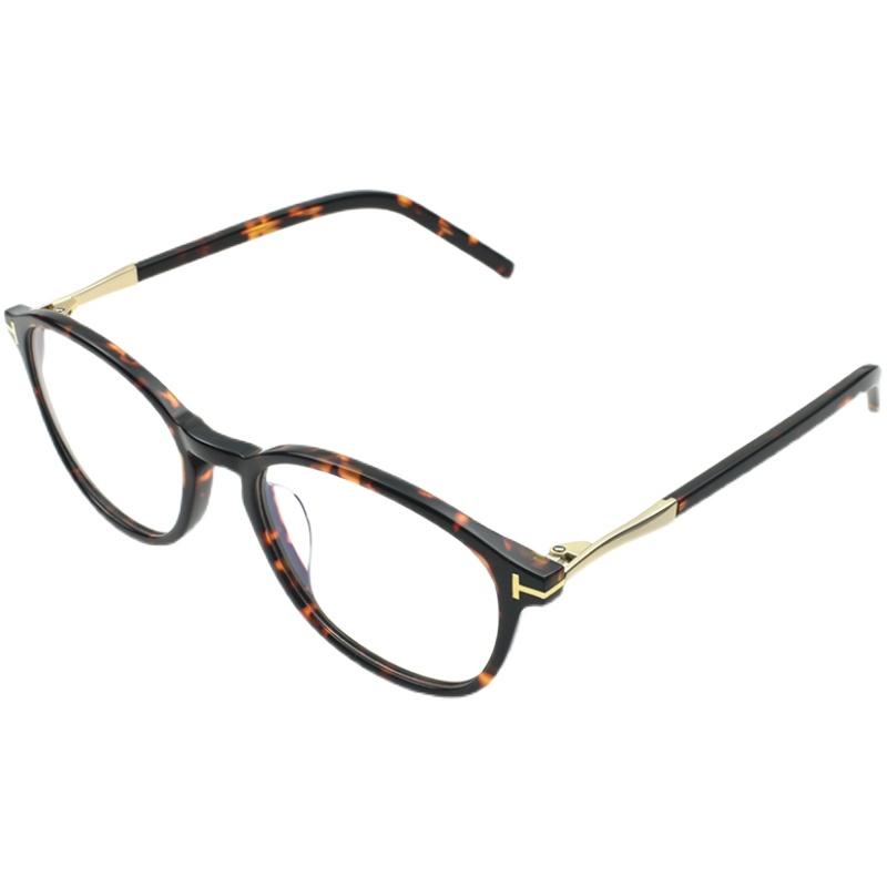殷桃同款眼镜正青春林睿复古玳瑁手造板材眼镜框近视女有度数女潮