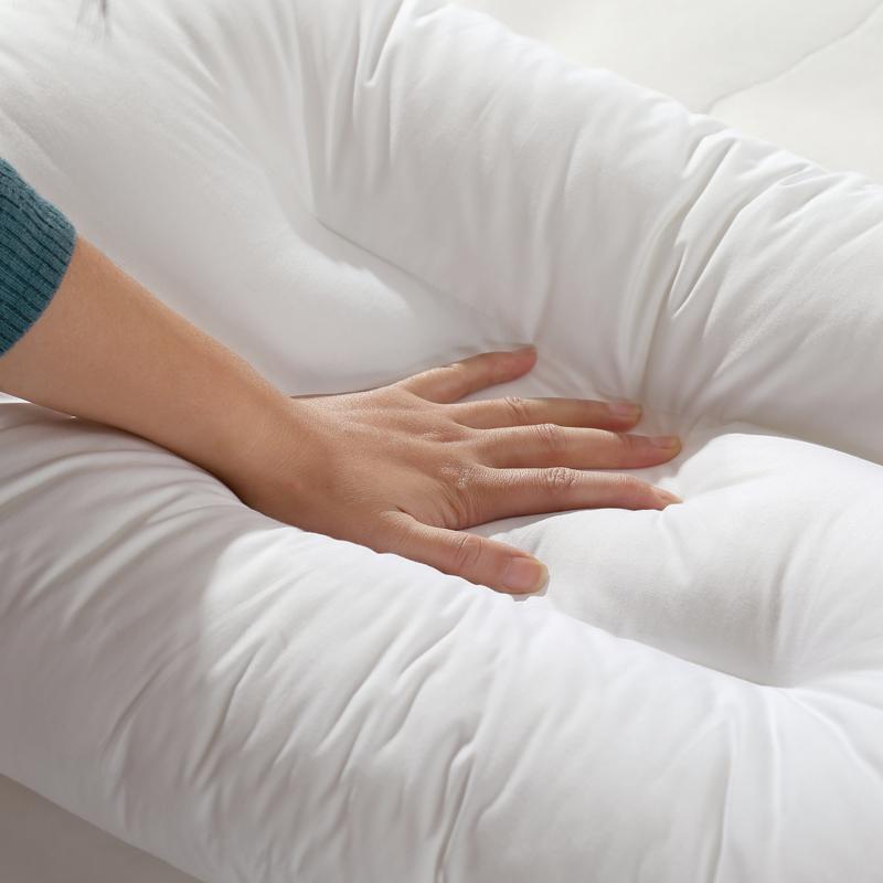 LOVO家纺单双人枕芯枕头悬挂式透气可水洗枕/防螨纤维枕一对拍二