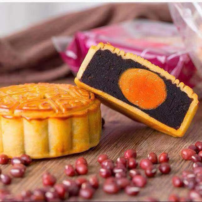 中秋广式月饼蛋黄莲蓉豆沙月饼散装红豆沙多口味员工送礼盒装团购