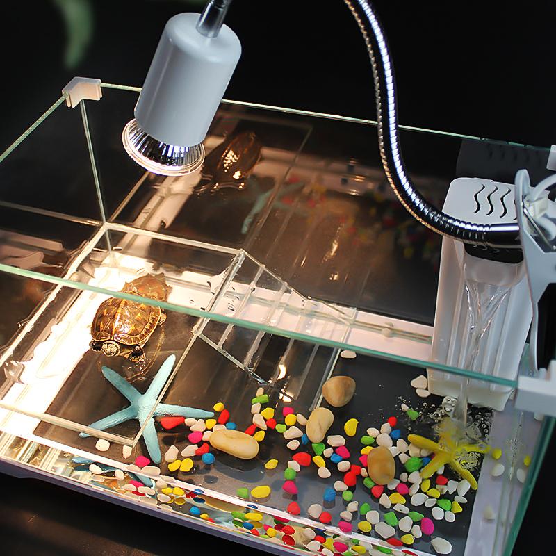 小型养乌龟专用缸饲养箱带晒台别墅玻璃家用盒巴西龟鱼混