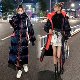 Mid-length long knee-length bright down jacket women 2019 new explosion models winter thick fashion jacket Dongdaemun x2