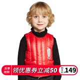 Autumn and winter Yinghu anti-season infant child down vest thin section men and women baby light warm vest vest