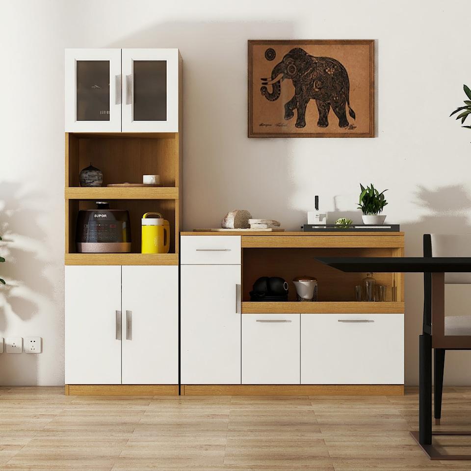 餐边柜现代简约厨房储物柜餐厅微波炉柜碗橱柜子边柜备餐柜可定制