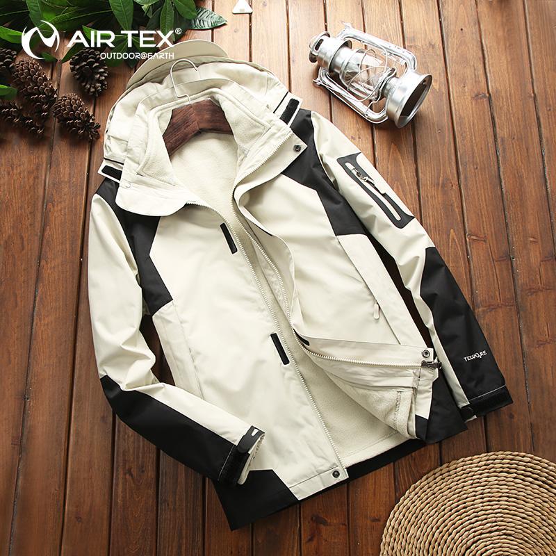男士冲锋衣女三合一两件套可拆卸防水防风韩国潮牌登山服冬季外套