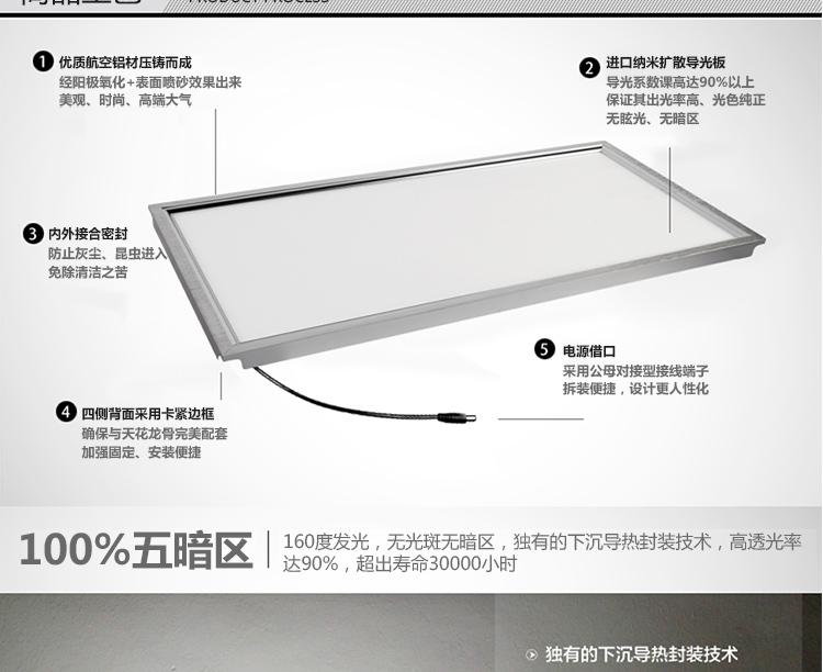 照明模块 60cm 30 阳台 厨房 平板灯 LED 集成吊顶
