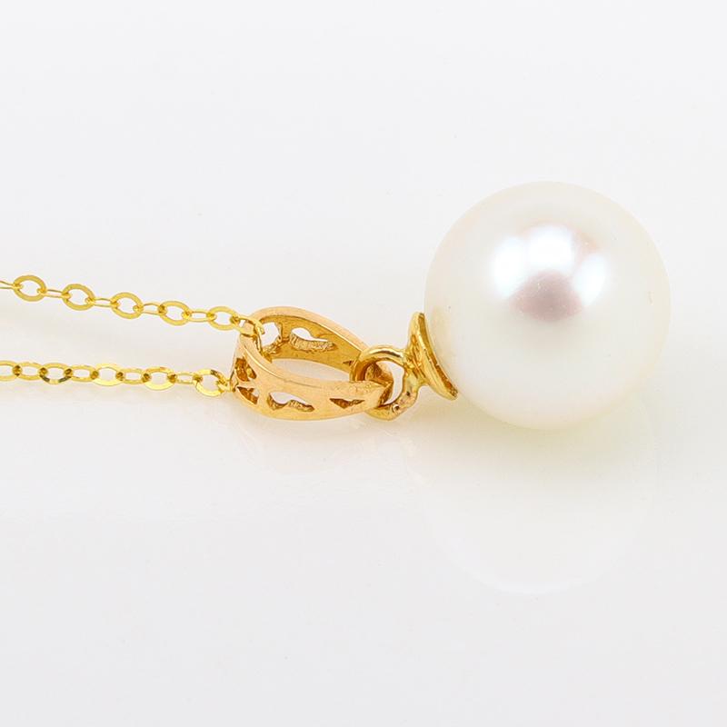 蜜蜡琥珀颈饰包邮 18k  新款 金珍珠托吊坠空托镂空花丝项坠扣金扣头