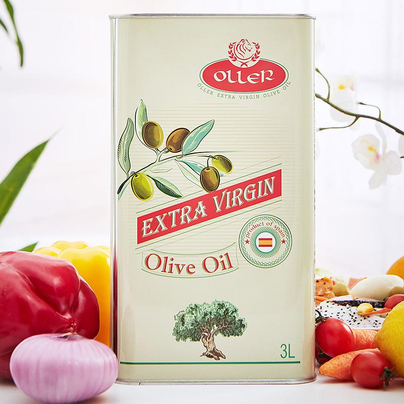 西班牙进口 奥列尔 特级初榨橄榄油 3L