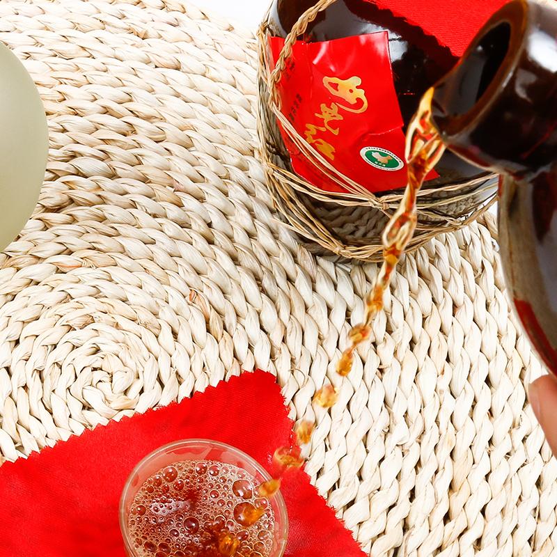 陶坛箱装手工糯米老酒半干 500ml 女儿红绍兴黄酒花雕酒三年陈酿