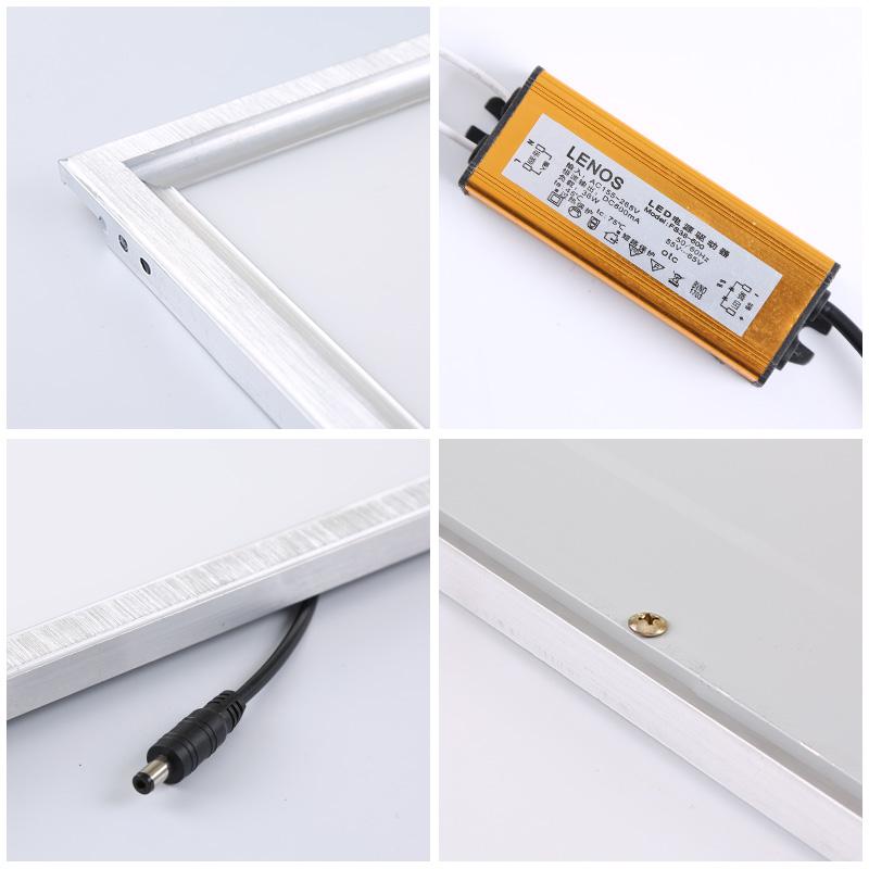 led格栅灯600x600平板灯嵌入式办公室面板灯3001200工程吊顶灯盘