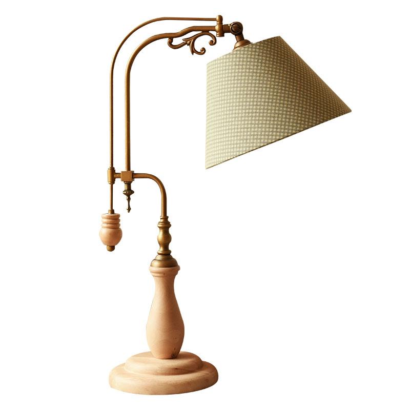 美式乡村复古台灯北欧宜家风客厅灯书房灯实木灯具新中式创意灯
