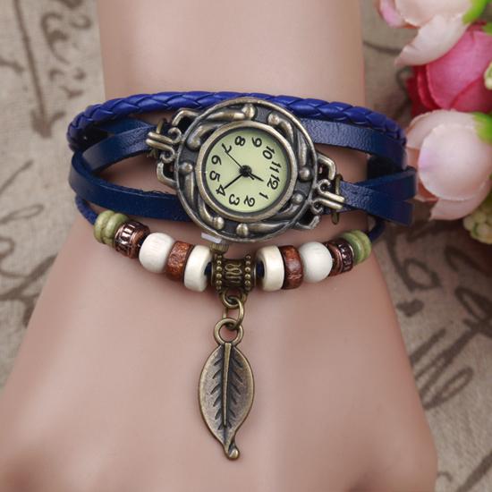 复古皮带缠绕时装手链手镯表 女学生男韩版简约 时尚潮流女士手表