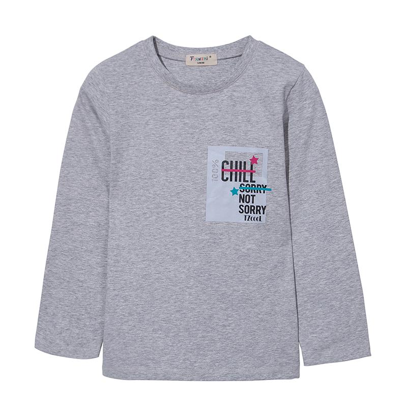 天智2018新款秋季童装男童长袖T恤 中小童儿童休闲体恤上衣打底衫