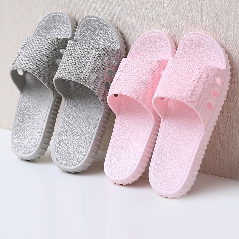 新款居家室内拖鞋女夏浴室洗澡防滑情侣外穿厚底时尚家用凉拖鞋男