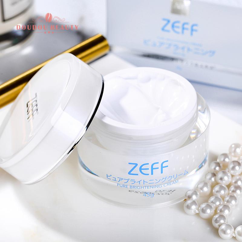 豆豆 日本ZEFF素颜霜亮白霜祛黄提亮水润保湿懒人裸妆遮瑕隔离45g