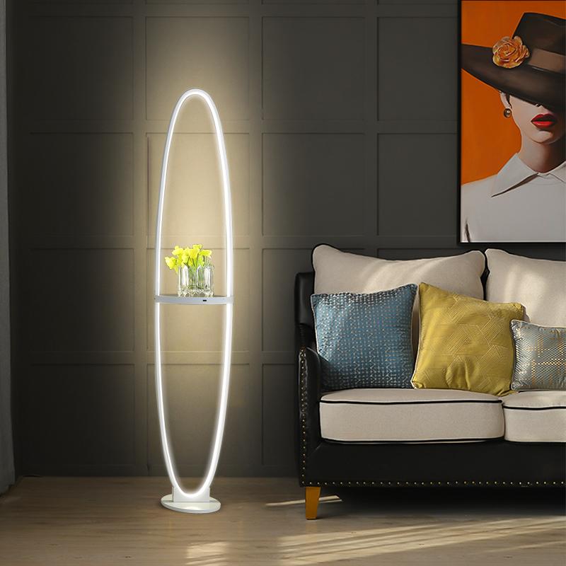 床头灯手机无线充电创意 led 客厅简约现代卧室北欧 语音声控落地灯