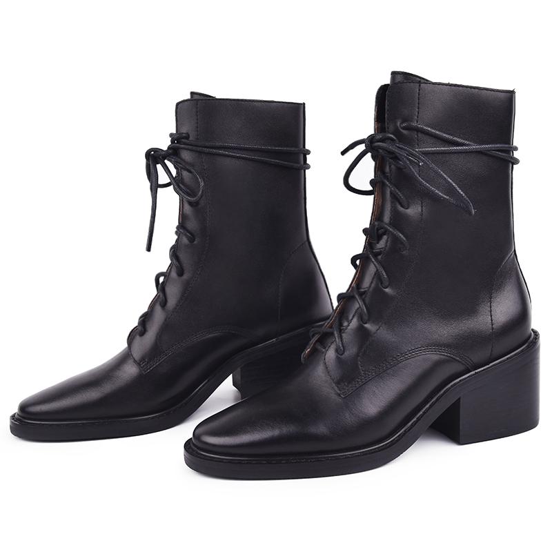 9.24 马丁靴英伦风粗跟短靴女秋冬新款 Ann 网红 别标签我 王小毒