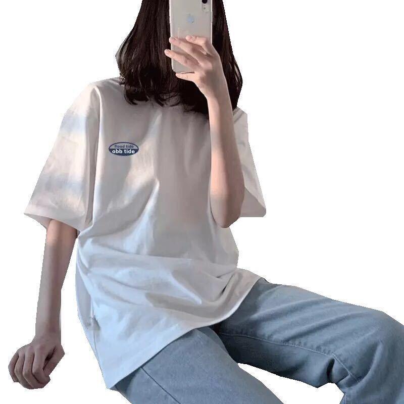 白色t恤女2020年新款短袖宽松韩版纯棉百搭学生半袖ins超火上衣潮