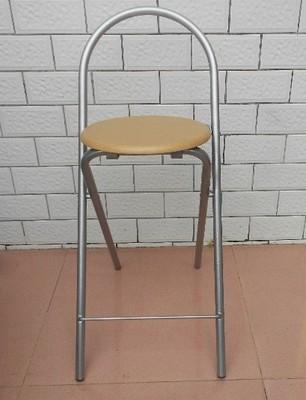高脚凳家用可折叠简易吧台椅子酒吧高椅便携式软垫吧椅