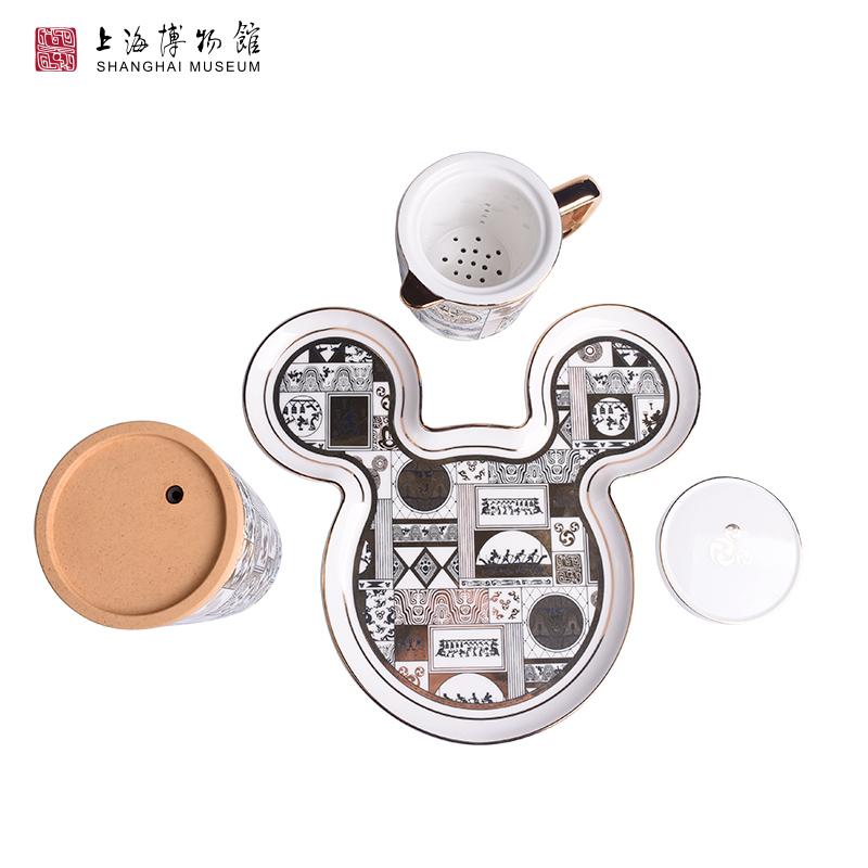 米老鼠头像摆件 周年陶瓷盘子 90 迪士尼米奇 上海博物馆