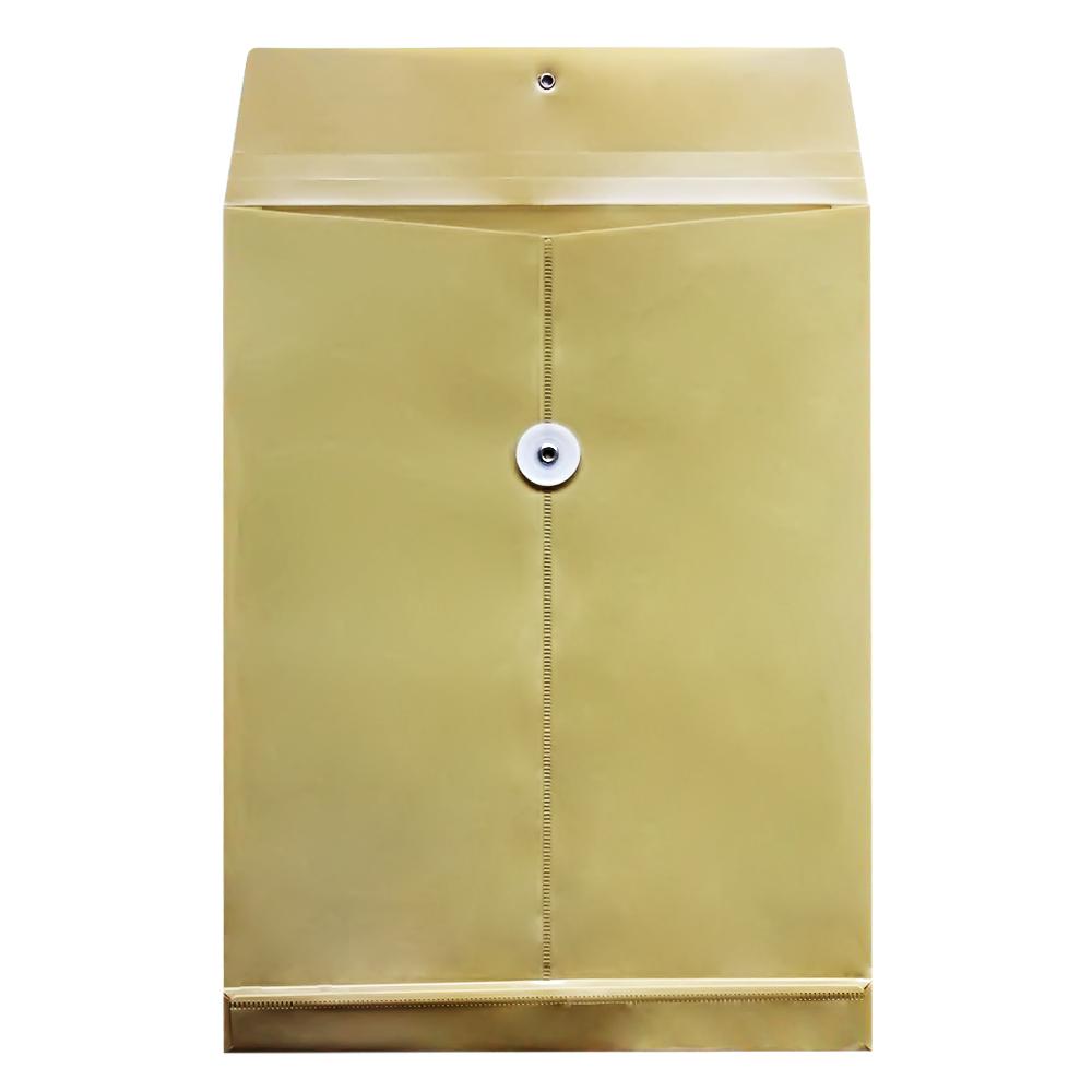 得力牛皮纸色塑料档案袋5910 文件资料收纳袋公文袋 耐用