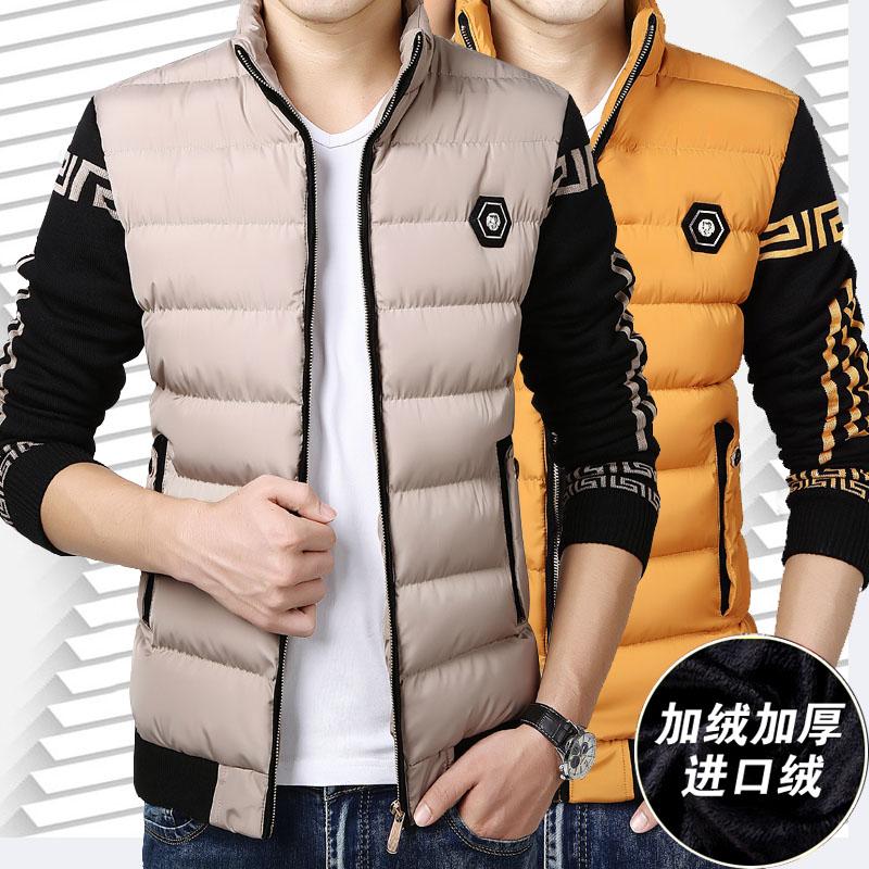棉衣男立领冬季外套加绒加厚短款修身休闲青年羽绒棉服棉袄特价潮