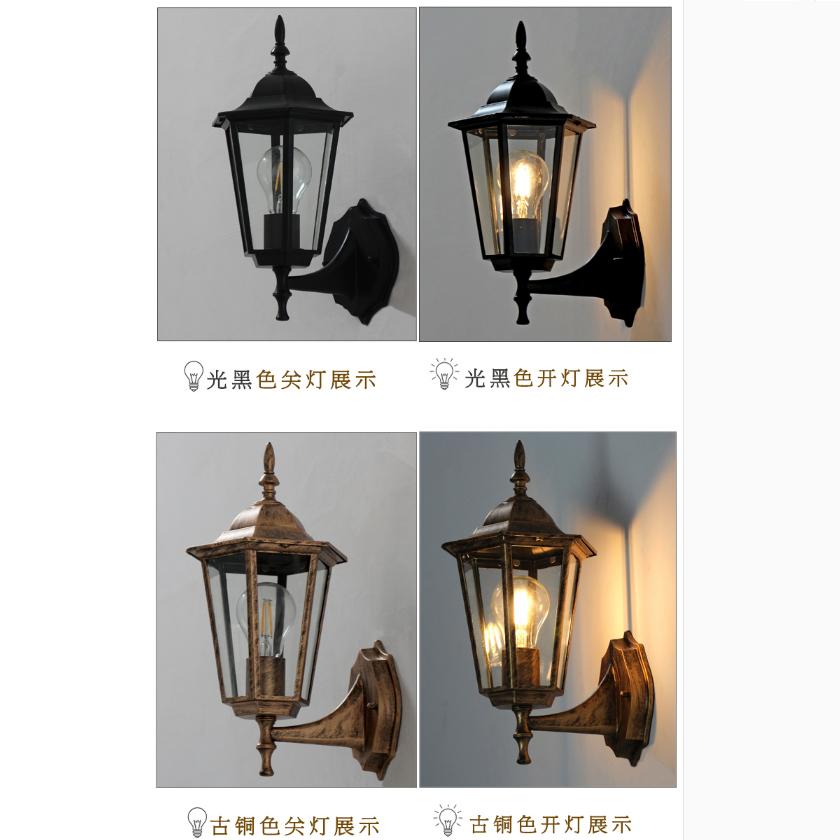 美式欧式壁灯防水户外灯具现代复古庭院阳台过道走廊客厅卧室包邮