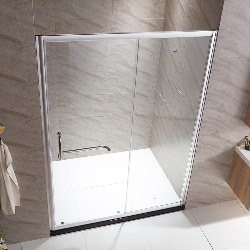 卫生间淋浴房隔断铝合金一字形屏风定制干湿分离浴室农村洗澡间