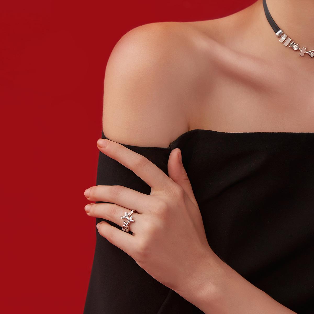 金关节食指原创指环 18K 华晨宇明星同款纯银戒指女简约镀 CIGALONG