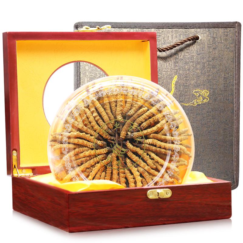 西藏那曲冬虫夏草正品野生虫草10克正宗冬虫草礼盒装3-4根/克头期