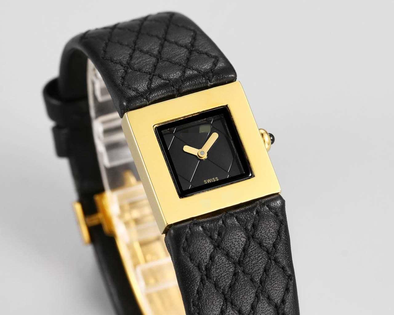 1993 款高端版本小方表  女式腕表头层牛皮表带中古款精钢 小香风