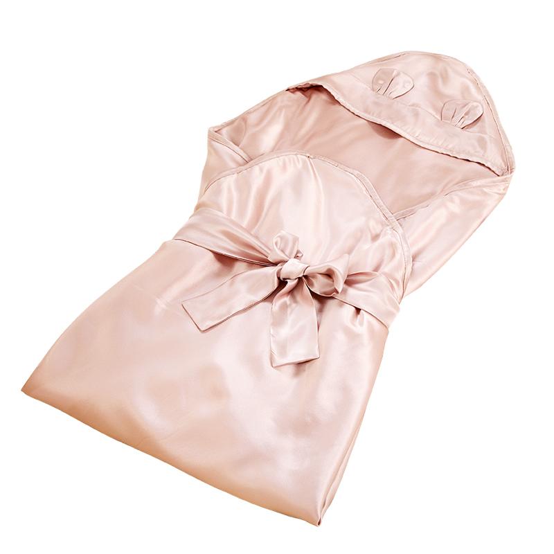 银桑真丝抱被襁褓睡袋 防惊跳夏新生婴儿抱被宝宝包被初生儿用品