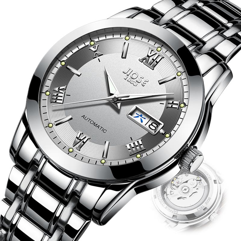 新款进口机芯男士手表机械表全自动防水镂空时尚石英男表 2018