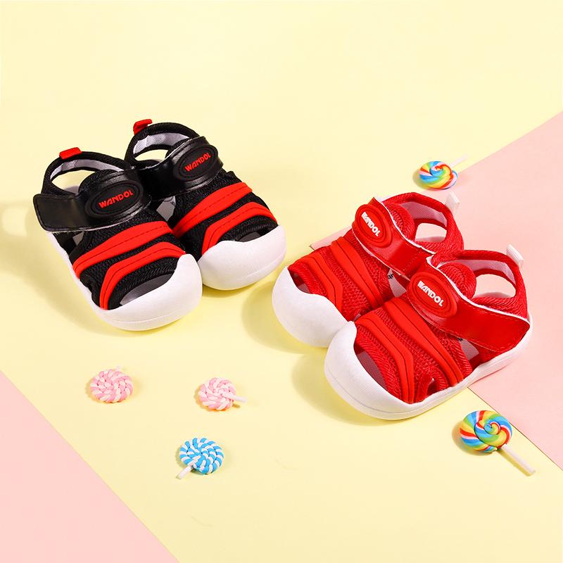 0-1-3岁2男女婴儿宝宝织布鞋子凉鞋夏季清凉软底防滑小童学步鞋子