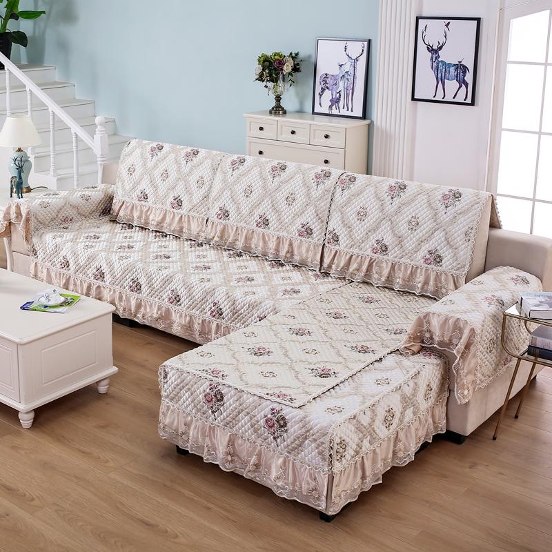 现代简约布艺防滑沙发垫沙发套四季通用组合沙发垫子全包万能套罩