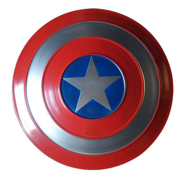 Captain America Shield,Avengers Miracle Legend Series Movie Version Replicas Shield Handheld Props,1:1 Metallic Feel,Bar Wall Hanging Decorations 58cm//22.8in