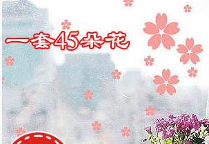 特價牆貼貼紙 玻璃櫥窗裝飾櫻花花瓣貼花每個ID限購5套zy0096