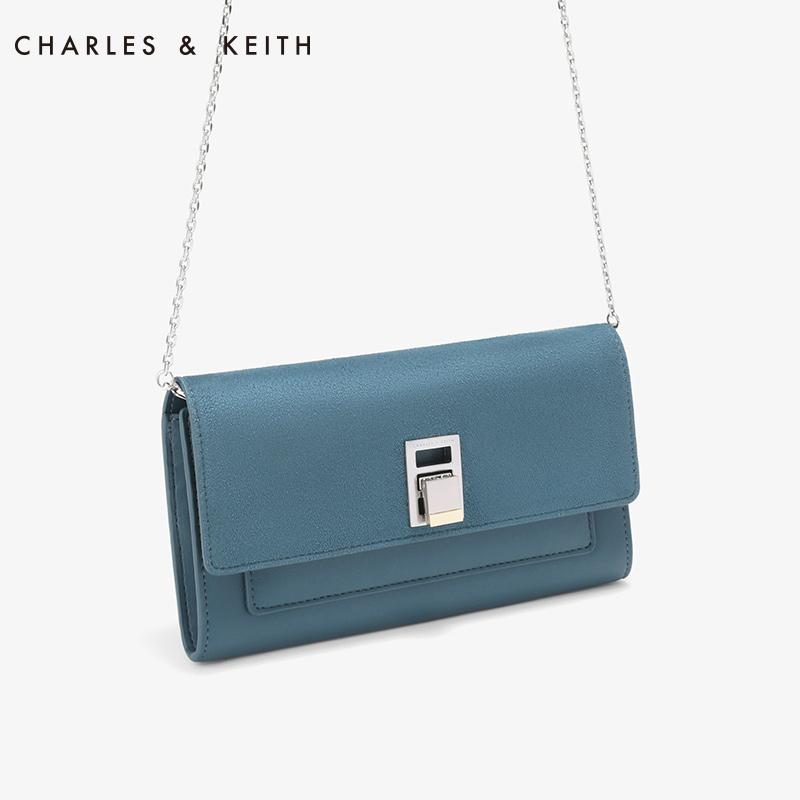 金属扣女士链条子母钱包 10840141 CK6 长款钱包 KEITH & CHARLES