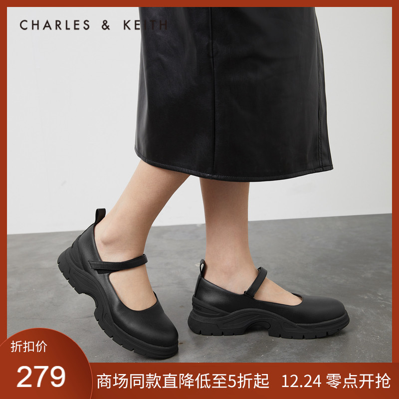 CHARLES&KEITH2020冬季新品CK1-70900249女士时尚厚底玛丽珍鞋 【在售价】399.00 元 【券后价】379.00元 ----------------- 【立即领券】点击链接即