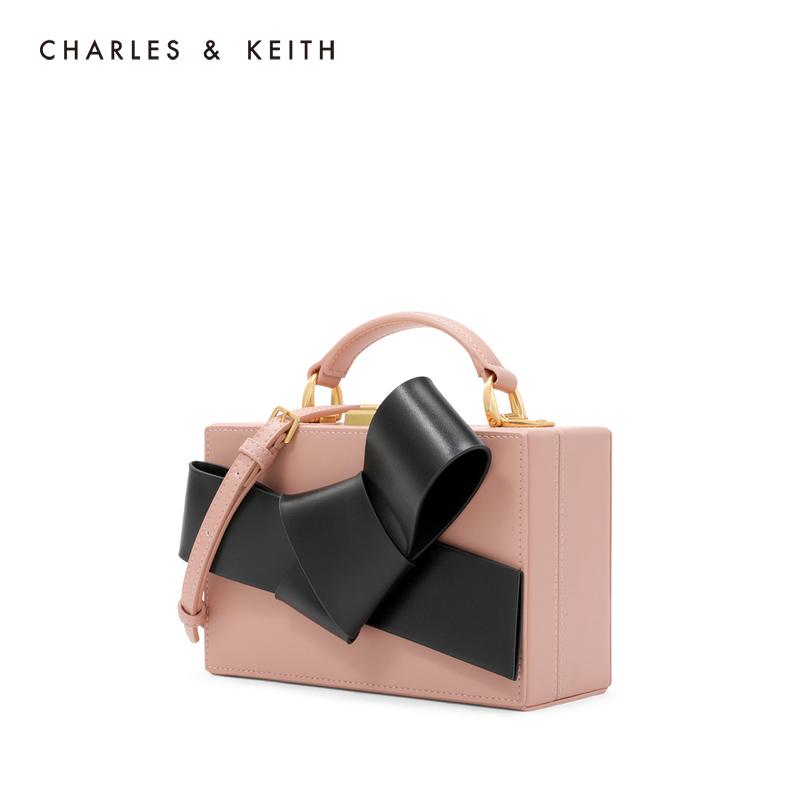 金属链条蝴蝶结装饰女士单肩包 50700831 CK2 小方包 KEITH & CHARLES