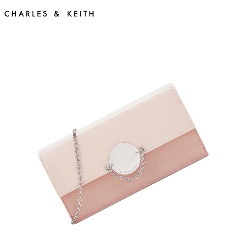 金属扣链条翻盖女士钱包 10840150 CK6 长款钱包 KEITH & CHARLES