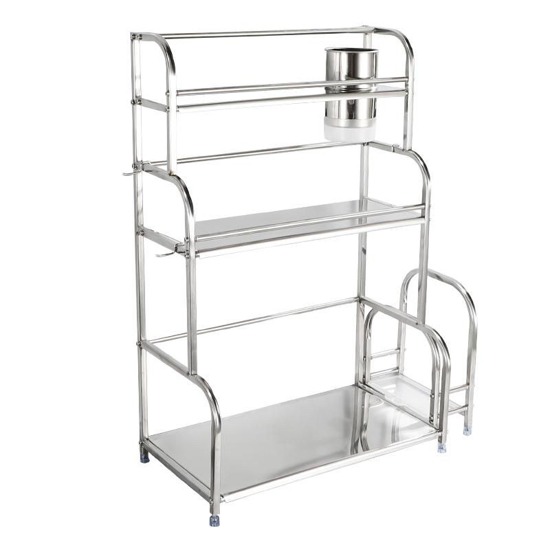 收纳架用品刃架落地式多层厨房不锈钢置物架台面储物调料架省空间