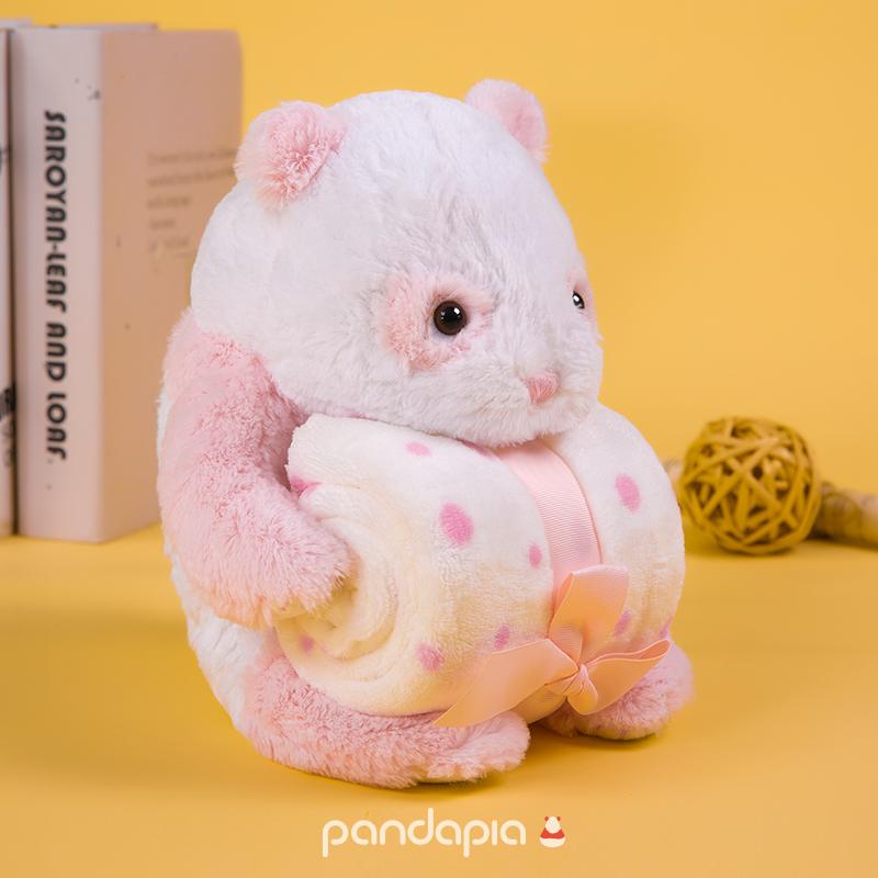 生日礼物 原创生物形态 毛绒玩偶毛毯 抱毯 熊猫伴伴 pandapia