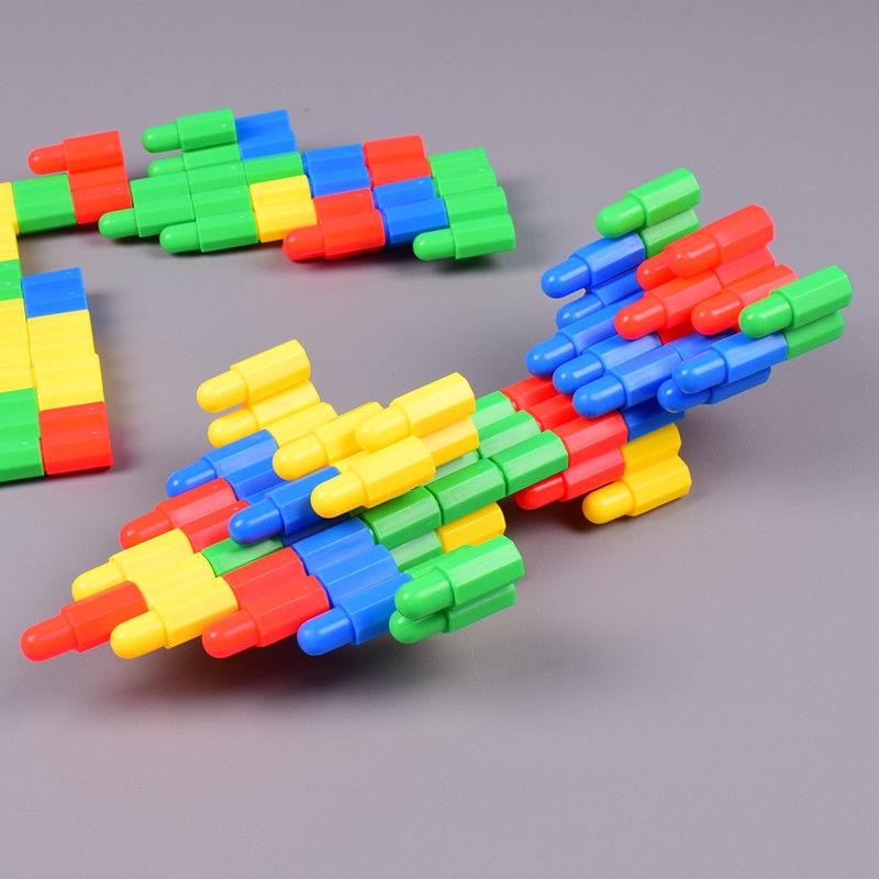 塑料拼插火箭大号子弹头积木玩具3-6岁幼儿儿童小男孩子拼装益智